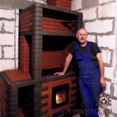 Варочная печь с лежанкой